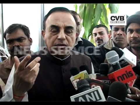 DIGVIJAY SINGH SUFFERING FROM BRAIN CANCER: SUBRAMANIAN SWAMY