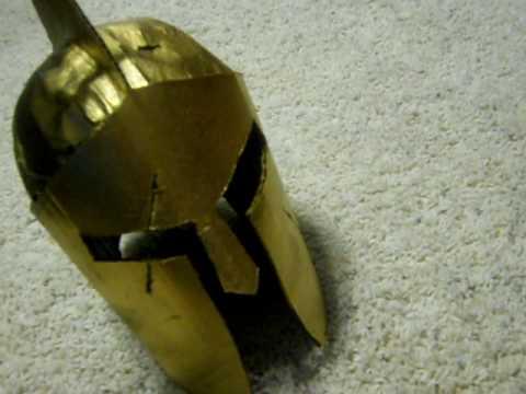 Cardboard Helmet Tutorial my Cardboard Spartan Helmet