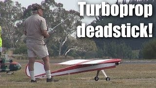 RC plane: huge turboprop ugly-stick flameout