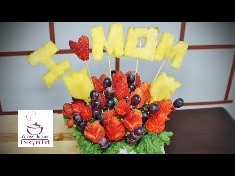 ARREGLO FRUTAL - EDIBLE FRUIT ARRANGEMENTS - DIA DE LAS MADRES