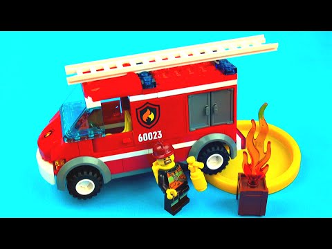LEGO City Fire Truck - Toy Unboxing Make n Play Review (60023) FluffyJet