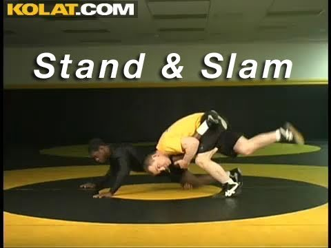 Stand & Slam Capture KOLAT.COM Wrestling Techniques Moves Instruction Image 1