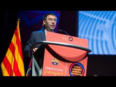 Discurs de Josep Maria Bartomeu en el Congrés de Penyes
