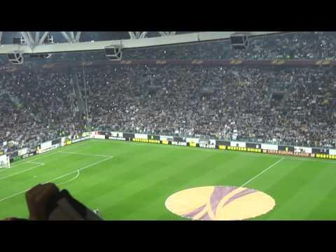 Apresentação dos jogadores + Hino + Mosaico - Juventus 2x1 Lyon - Juventus Stadium