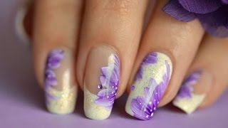 Nail ART fast&easy french manicure flower