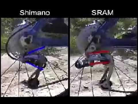 Desviadores Shimano vs SRAM