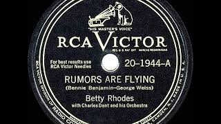 1946 HITS ARCHIVE: Rumors Are Flying - Betty Rhodes