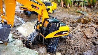 Excavator Truck Rescue Car Toy Pretend Play Video for Kids