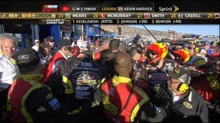 Clint Bowyer And Jeff Gordon Fight! Crew Fight in Garage! FULL