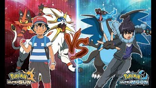 Pokemon Ultra Sun and Ultra Moon: Alola Ash Vs Alain (Pokemon Ash Rival)