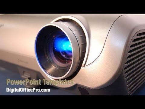 Projector PowerPoint Template Backgrounds - DigitalOfficePro #02452W