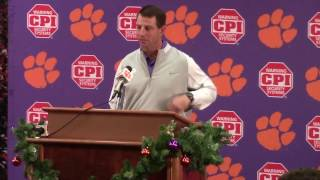 TigerNet.com - Dabo previews Ohio St, catches up on injuries part one