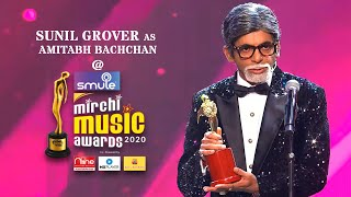 Sunil Grover's hilarious mimicry of  Amitabh Bachchan at Smule Mirchi Music Awards 2020
