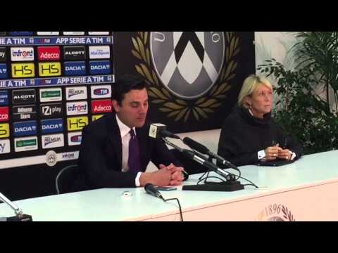 Udinese-Fiorentina 2-2, mister Vincenzo Montella nel dopo p
