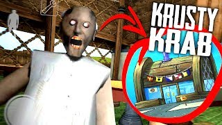 MODDING GRANNY'S HOUSE Into The KRUSTY KRAB Map... (Granny Horror Game + Krusty Krab Roleplay)