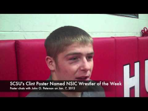 St. Cloud State Wrestling Interview with Clint Poster on Jan. 7, 2013