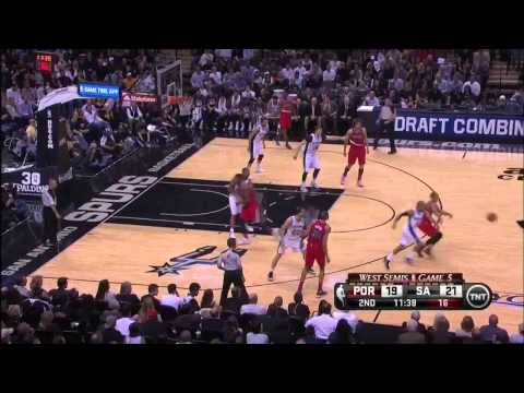NBA, playoff 2014, Spurs vs. Trail Blazers, Round 2, Game 5, Move 17, Patty Mills, steal