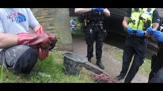 UK magnet fishing with Goz and Jim | Gun and hoard of ammunition found | Police called!
