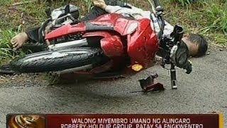 24 Oras: 8 miyembro umano ng Alingaro Robbery-Holdup Group, patay sa engkwentro