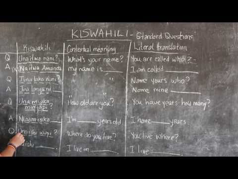 Video #4 - GO! presents: BEST Swahili Tutorials - STANDARD QUESTIONS (live from Tanzania)