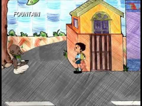 Marathi Balgeet Raviwar Majha Aawadeecha Kids Animation Poem video