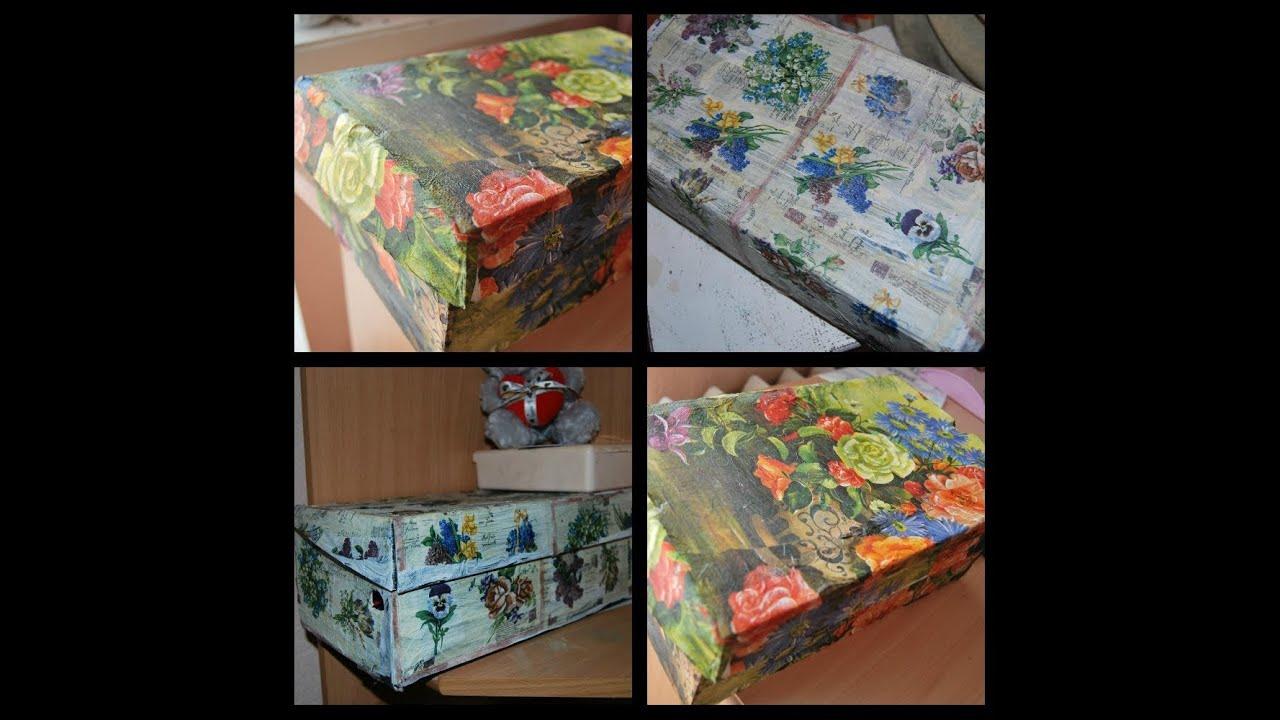 Украсить обувную коробку своими руками 2