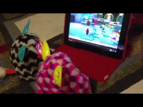 2 furby booms are watching jumpstart
