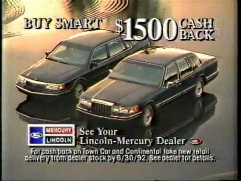 1990 39 s 1992 lincoln continental ford commercial how to save money and do it yourself. Black Bedroom Furniture Sets. Home Design Ideas