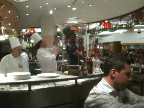 The singing chef at Harrods pizzeria food hall