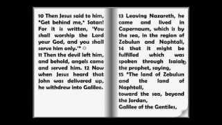 Audio Bible: The New Testament - The Gospel of Matthew Chapter 4