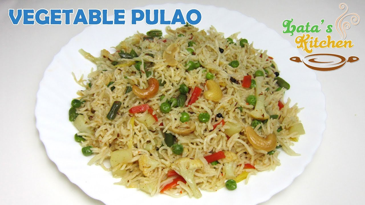 Vegetable Pulao Recipe Video ( Veggie Pulav Rice ) — Indian ...