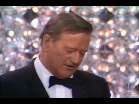 John Wayne winning Best Actor for