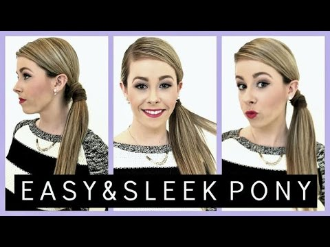 How To: Smooth & Sleek Ponytail | Easy Hairstyles