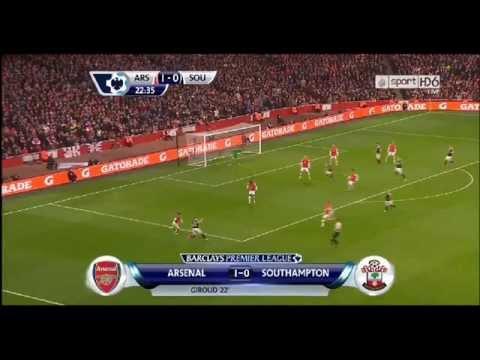 But Giroud Arsenal vs Southampton le 30-07-2014