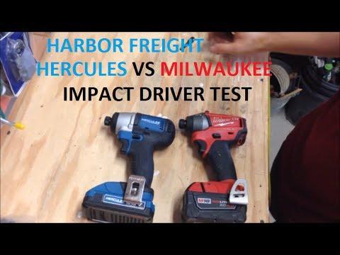 NEW Harbor Freight Hercules Impact Driver vs Milwaukee M18 Fuel