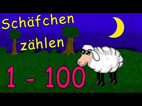 Schafe Zählen Zum Einschlafen Und Lernen 1-100 - Zählen Lernen Lied Deutsch