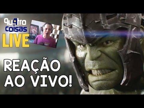 TRAILER DE THOR RAGNAROK REAÇÃO AO VIVO! (Trailer React)