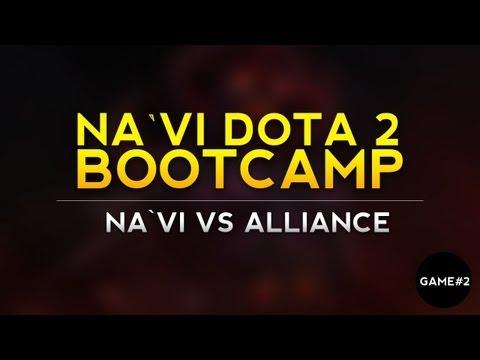 Na`Vi.Dota 2 vs Alliance - game 2 @ live VOD from bootcamp