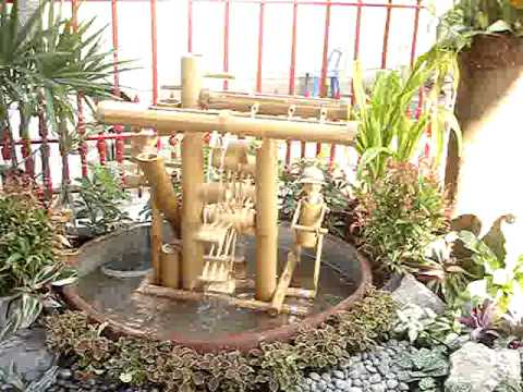 Bamboo fountain youtube - Shishi odoshi bamboo water feature ...