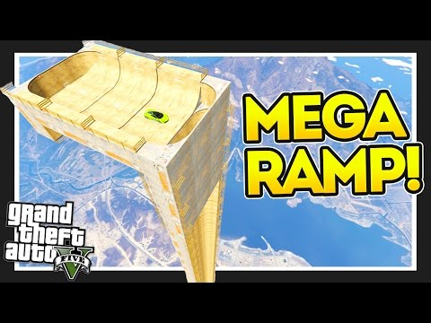 THE VERTICAL RAMP!! GTA 5 Mods Showcase! #goodluckgolfcaddy!