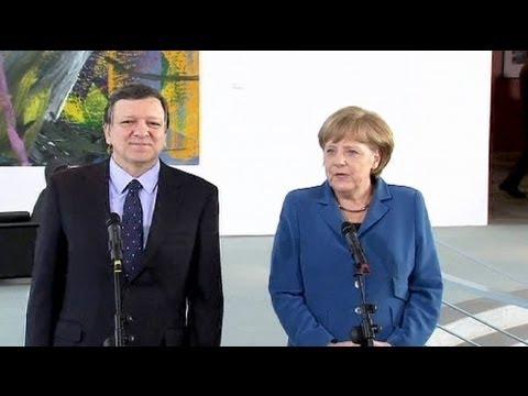 Merkel und Barroso beraten Rettung der Eurozone