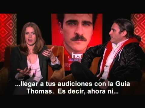 ELLA (Her) EPK #2, Entrevista a Joaquin Phoenix y Amy Adams - subtitulado español