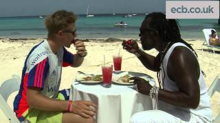 Root meets Roots - England star enjoys cooking & cricket on Barbados beach