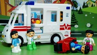 Мультики Про машинки все серии подряд.Полиция Пожарная машина Скорая помощь. Видео для детей.Мультик