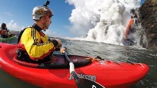 download lagu Kayaking  A Lava Waterfall gratis