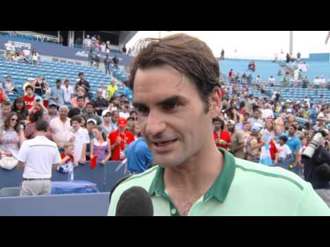 Cincinnati 2014 Final Interview Federer