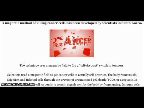 Magnetic method of killing cancer cells has been developed by scientists in South Korea