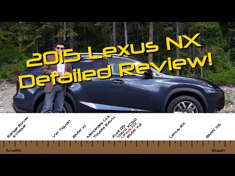 2015 Lexus NX 200t and NX 300h Detailed Review and Road Test