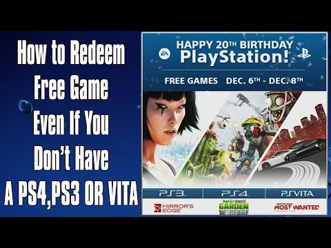 How To Redeem Free Games PS4, PS3, PS Vita Games PlayStation Experience