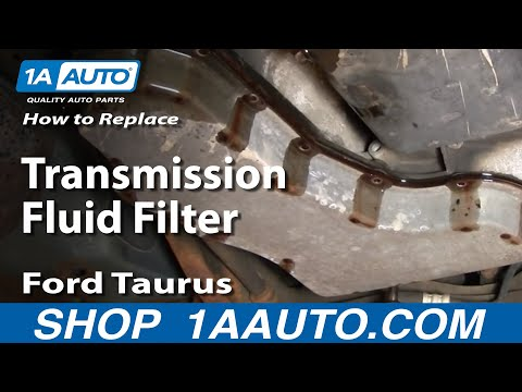How To Service Transmission Fluid Filter Ford Taurus V6 00-07 - 1AAuto.com